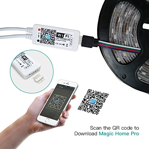 Magic Hue WiFi RGB Controller for LED Light Strips, Android