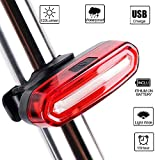 Bike Tail LED Light, Yuanli USB Rechargeable,6 Light Mode Options,Waterproof IPX 6 Super Bright Helmet Light Accessories Fits for Cycling Safety Flashlight