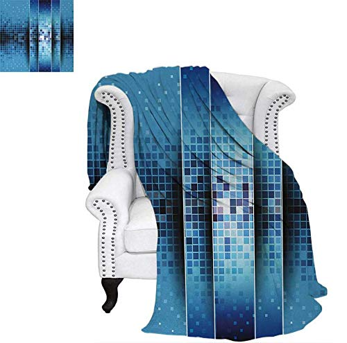 Lightweight Blanket Mosaic Pattern with Fragments Little Ceramic Style Square Digital Image Art Digital Printing Blanket 70