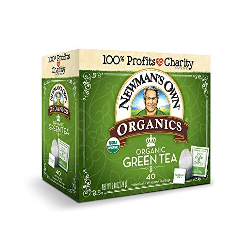 Newman's Own Organics Green Tea, 40 Count (Pack of 6). Packaging May Vary.