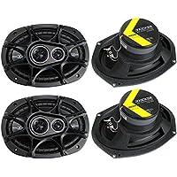4) New Kicker 41DSC6934 D-Series 6x9 720 Watt 3-Way Car Audio Coaxial Speakers