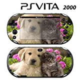 Decorative Video Game Skin Decal Cover Sticker for Sony PlayStation PS Vita Slim (PCH-2000) - Cute Puppy Kitty