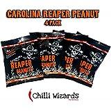 Insane Reaper Peanuts - Hot as Hell Seasoned Peanuts 4 x 80g