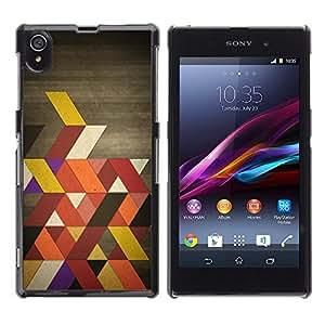 Colores retros OYAYO Sony Xperia Z1 L39 //Dise?os frescos para todos los gustos! Top muesca protección para su teléfono inteligente!
