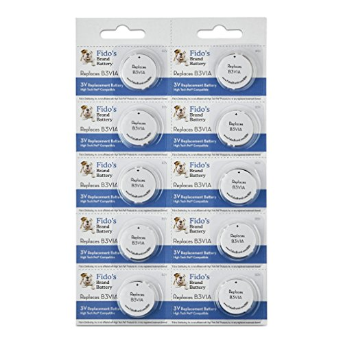 Electronics Back Sell - High Tech Pet Compatible Electronic Collar Battery 10 Pack for Model MS-4 and MS-5 by Fido's