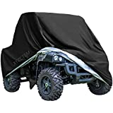 "XYZCTEM UTV Cover with Heavy Duty Black Oxford Waterproof Material, 158.10"" x 62.06"" x 75.20"" (402 158 191cm) Included Storage Bag. Protects UTV From Rain, Hail, Dust, Snow, Sleet, and Sun (XXXL)"