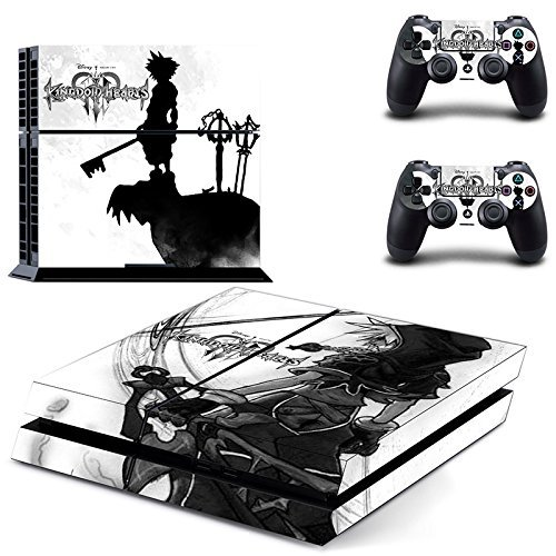 (Junsi Kingdom Hearts Body Skin Sticker Decal for PS4 Playstation 4 Console+Controllers)