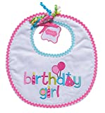 Mud Pie Baby-Newborn Birthday Girl Bib, One Size
