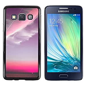 Be Good Phone Accessory // Dura Cáscara cubierta Protectora Caso Carcasa Funda de Protección para Samsung Galaxy A3 SM-A300 // Pink Sky Plane Clouds Sunset