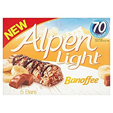 Alpen light banoffee bars 5 x 19g amazon grocery alpen light banoffee bars 5 x 19g aloadofball