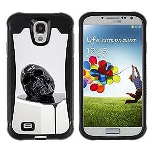 "Pulsar iFace Series Tpu silicona Carcasa Funda Case para Samsung Galaxy S4 IV I9500 , Cráneo de fusión 3D Resumen muerte Oleo"""