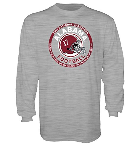 Blue 84 Alabama Crimson Tide 2017 National Champions Catchy Long Sleeve Tee-large (10 Great Playoff Games)