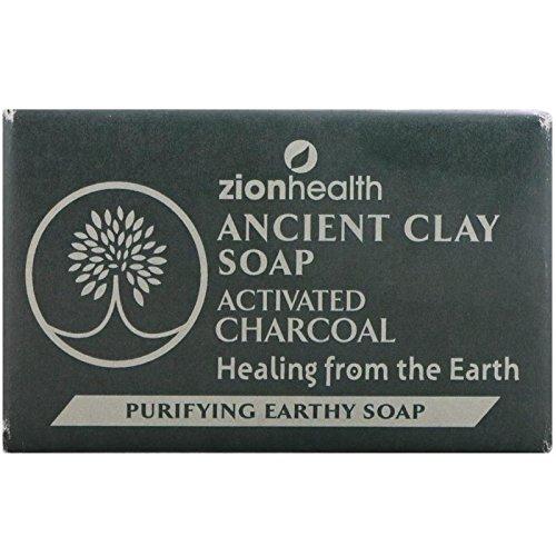Ancient Clay Soap Charcoal Zion Health 6 oz Bar Soap
