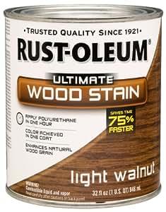 Rust-Oleum 260160 Ultimate Wood Stain, Quart, Light Walnut