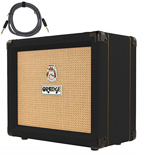 Orange Crush 20RT Black 1x8'' 20w Combo Amp w/ Reverb & Tuner Free Cable Bundle by Orange