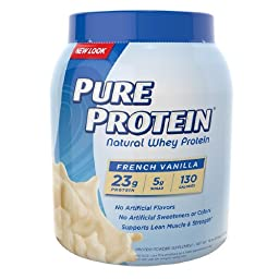 Pure Protein Natural Whey Protein, French Vanilla 25.6 oz