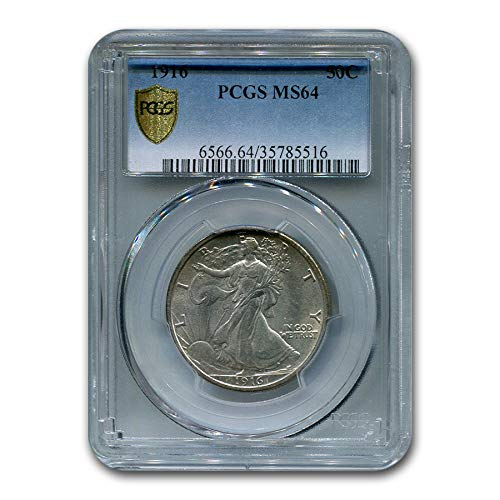 1916 Walking Liberty Half Dollar MS-64 PCGS Half Dollar MS-64 PCGS