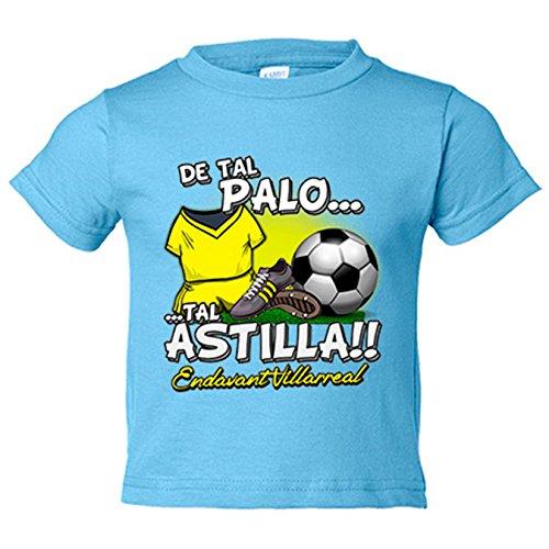 Camiseta niño De tal palo tal astilla Villarreal fútbol - Amarillo, 3-4 años: Amazon.es: Bebé