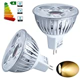Jambo 20x High Power MR16 Warm White 12V LED CE RoHS Bulbs Spotlights Lamp for Home Offices Work