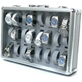 アルミ製腕時計ケース 24個収納 お気に入りの時計のコレクションケースに 鍵付き