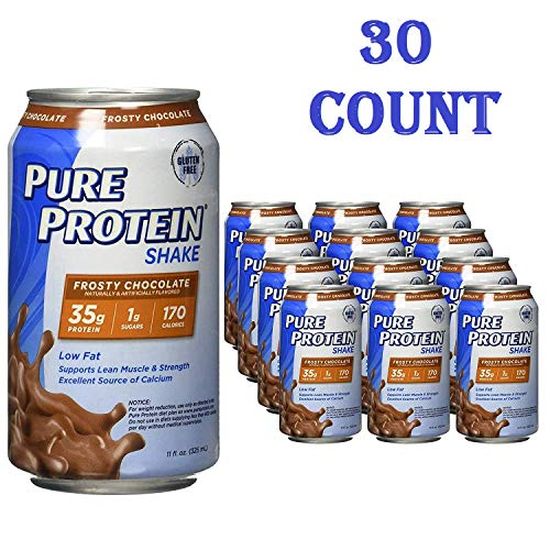 Pure Protein Ready to Drink Shakes, High Protein Frosty Chocolate, 11oz, 30 count (30 Count total)