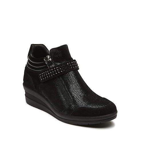 ENVAL Soft 2267300 Negro Tobillo Botas Zapatillas de cuña Mujer: Amazon.es: Zapatos y complementos