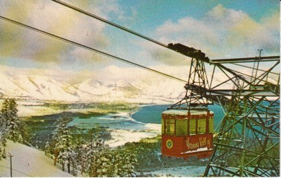 Unused Postcard Heavenly Valley Lake Tahoe California Photo by Montanari (Lake Tahoe Heavenly)