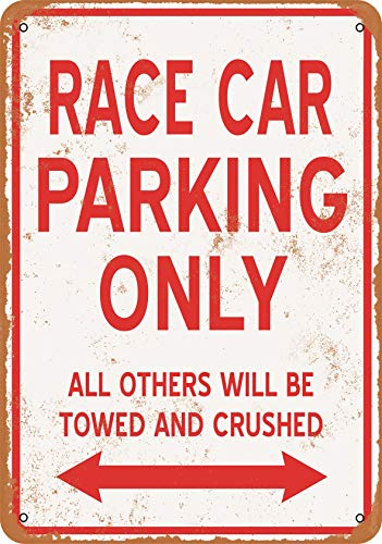 Wall-Color 9 x 12 Metal Sign - Race CAR Parking ONLY - Vintage Look