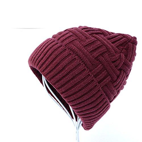 D espesados moda Gorras de punto lana gorras caps felpa 6nHTqcp