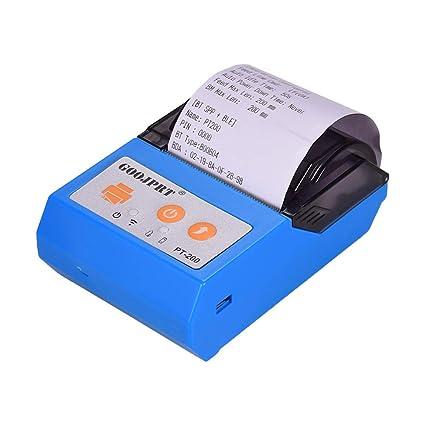 Leslaur GOOJPRT PT200 Impresora térmica de recibos inalámbrica ...