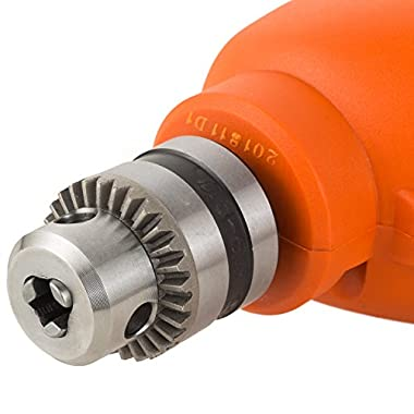 BLACK+DECKER BD65RD 400W 6.5mm Variable Speed Reversible Rotary Drill (Orange, 2-Pieces) 10