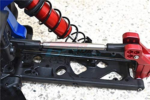for Arrma 1//5 KRATON 8S BLX//OUTCAST 8S BLX 4Pc Set G.P.M No Ball Ends Stainless Steel Adjustable Front Steering /& Rear Upper Arm Tie Rod