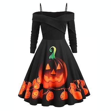 beautyjourney Vestido Halter Vintage Rockabilly para Mujer Vestido ...