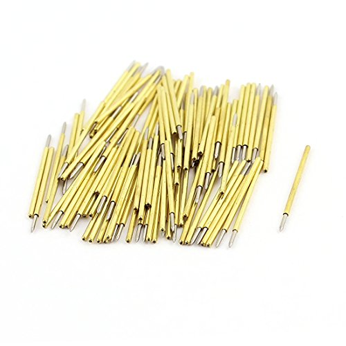 (uxcell 100 Pieces P50-B1 Dia 0.68mm 75g Pressure Spring Test Probe Pin)