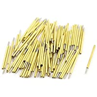 uxcell 100 Pieces P50-B1 Dia 0.68mm 75g Pressure Spring Test Probe Pin