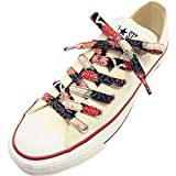 Japanese Chirimen Shoelaces for Sneakers 117cm 46inch (Black)