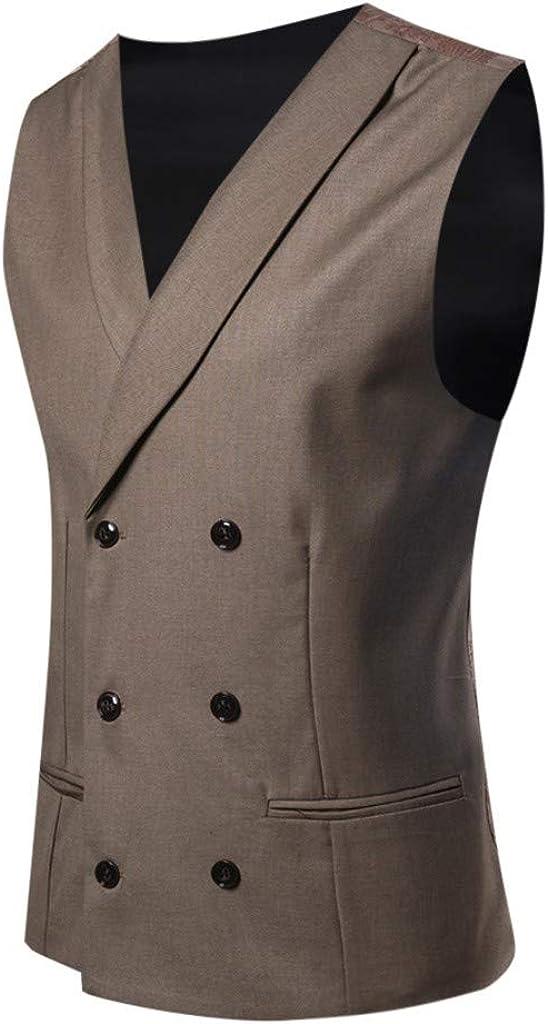 Men Suit Vest Business V Neck Blazer Men Suit for Men Slim Fit Tall Cocktail Party Wedding