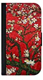 Artist Vincent Van Gogh's Almond Blossoms in Red - Passport Protector Case Cover / Card Holder for Travel