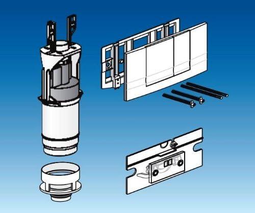 Friatec Friabloc F 102 WC Modernisation Set including Actuator Plate White 330801