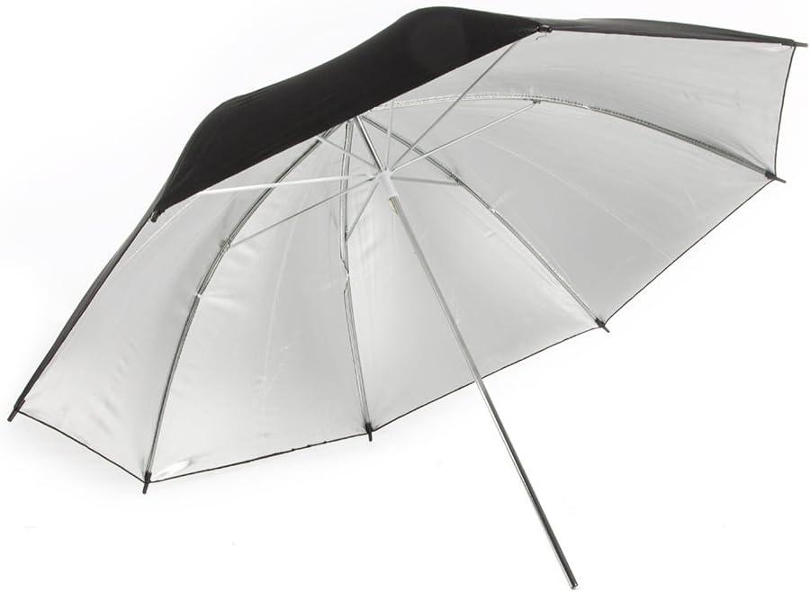 Fovitec StudioPRO 675W 3 Light Single Lamp Black on Silver Umbrella Kit