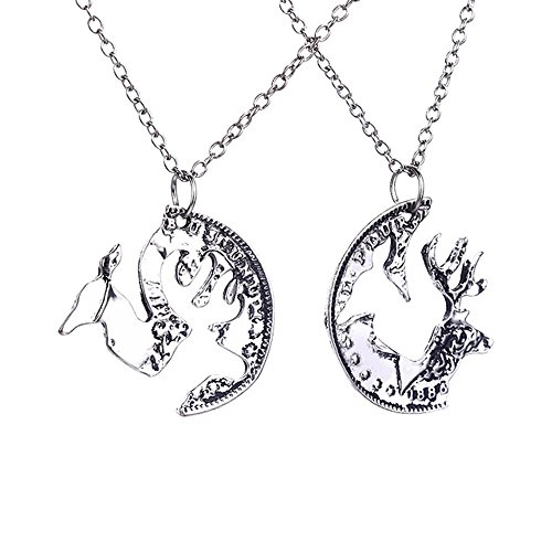 [THOBAL 1 pair Silver Alloy lovers pendant couple necklace relationship puzzle necklace for couples] (Tardis Costume Etsy)