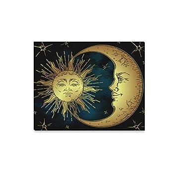 Amazon Com Interestprint Antique Boho Decor Golden Sun Moon And