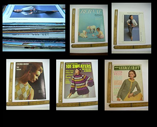 - VINTAGE MAGAZINE LOT of 28 Fashion SWEATER Knitting Patterns Knit crochet FAMILY Lauren Hutton BABY ADS Bernat Denham Yarns Columbia Minerva Fleisher Bear Brand Vogue Brunswick