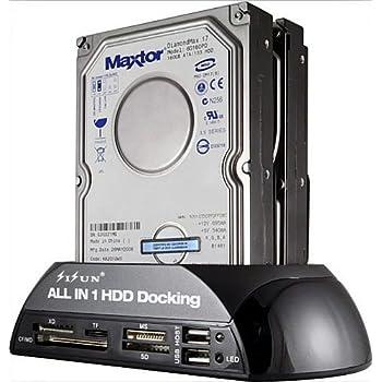 "SISUN ® 2.5""/3.5"" IDE SATA HDD Docking Station +Card Reader Hub (Black)"