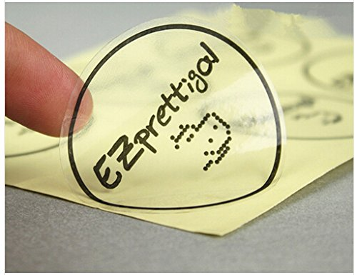 1000pcs Custom Round Transparent PVC Stickers, Customized Offset Printing Vinyl Labels
