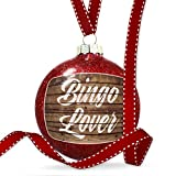 Christmas Decoration Painted Wood Bingo Lover Ornament