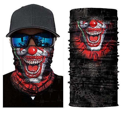 3D Seamless Balaclava Magic Scarf Neck Face Mask Ghost Skull Skeleton Head Bandana Shield Headband Headwear,OneSize,Hr041021 -