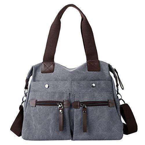 Eshow Women Canvas Shoulder Bag Hobo Handbags and Purse Cross-Body Bag Messenger Bag Travel mom bag for ()