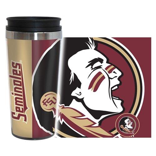 Boelter Brands NCAA Florida State Seminoles Hype Full Wrap Travel Tumbler, 14-Ounce
