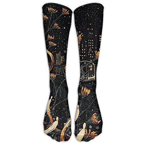 Women Fantasy New York Train Crew Stockings Stylish Crew Socks